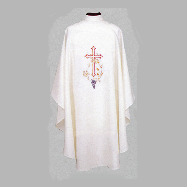 Beau Veste Cross And Grapes Chasuble design on front and back-840A