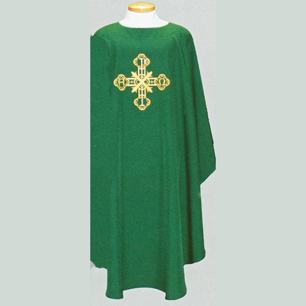 Beau Veste Cross Chasuble with front and back design -2013A
