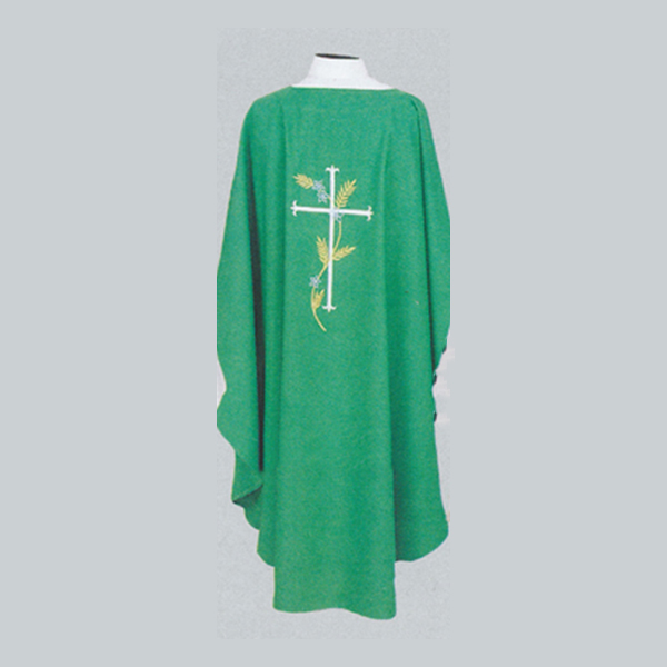 Beau Veste Cross & Wheat Chasuble design on front and back-871A