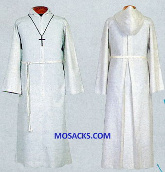 Beau Veste Flax Poly Rayon Blend Altar Server Alb with Zipper 10-555