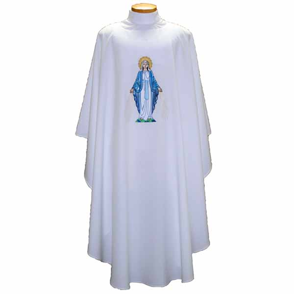 Beau Veste Our Lady of Grace Chasuble design on front and back-2014A