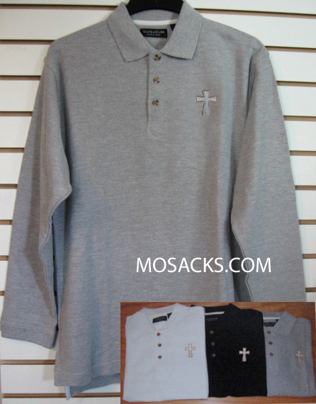 Beau Veste Men's Clergy Polo Shirt Long Sleeve Shirt 4XL - 9500LS-Series