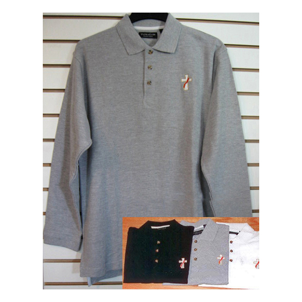 Beau Veste Men's Deacon Polo Shirt Long Sleeve - 4XL - 8500LS-Series