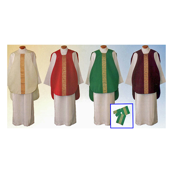 Beau Veste Roman Chasuble Vestment 5-Piece Set, #956-S