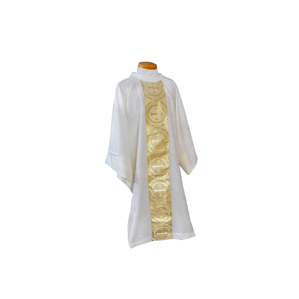 Beau Veste White Satin Gold Brocade Dalmatic-2042