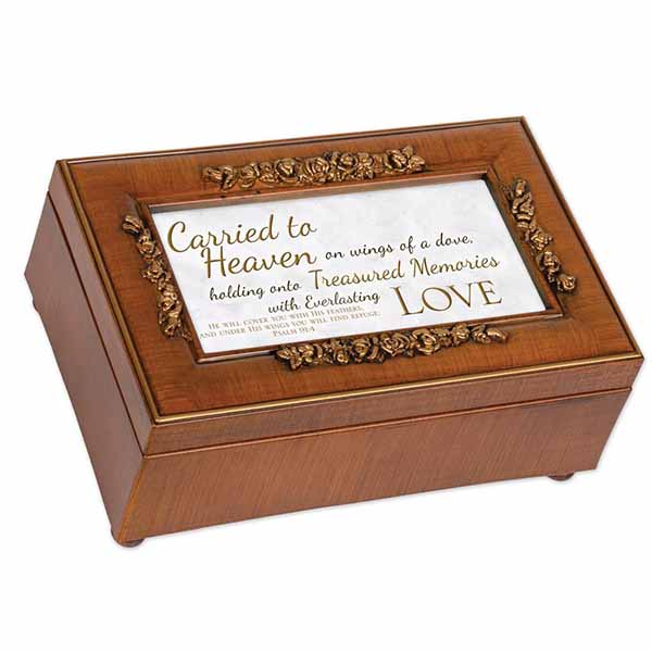 Bereavement Music Box Amazing Grace with Charm PR209S