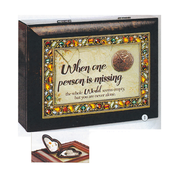 Bereavement Music Box Wind Beneath My Wings with Locket JM360