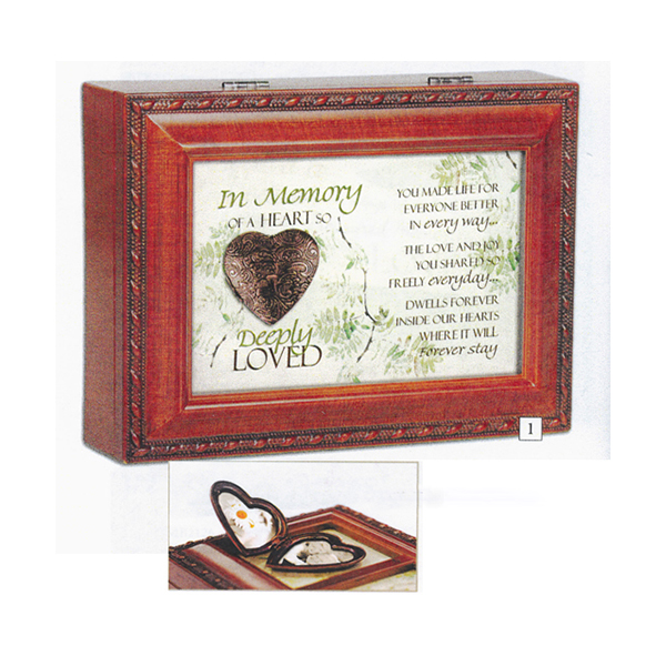 Bereavement Music Box How Great Thou Art with Locket MB2074S