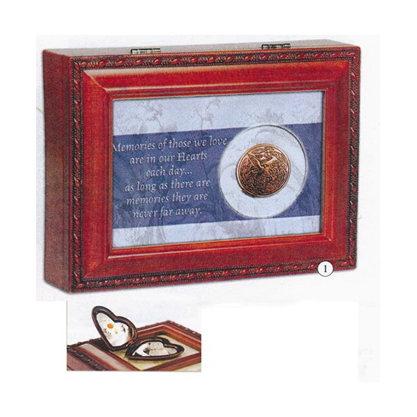 Bereavement Music Box with Locket  plays tune You Light Up My Life MB2126