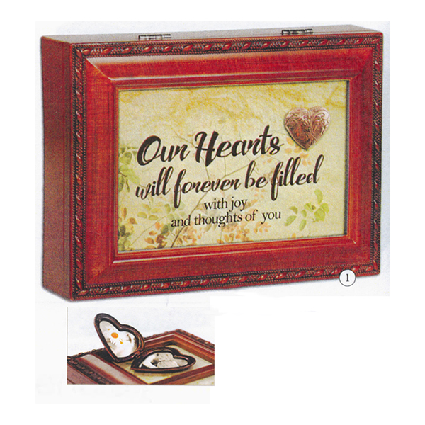 Bereavement Music Box Edelweiss with Locket MB2127
