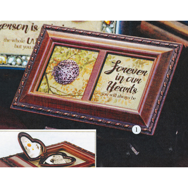 Bereavement Music Box with Locket  plays the tune You Light up my Life PM5799 Petite Music Box