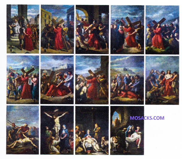 "Bertucci Stations Of The Cross 6x9""  Plates"