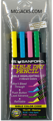 Bible Accessories Highlighter Dry Pencil 4 Pack-26074