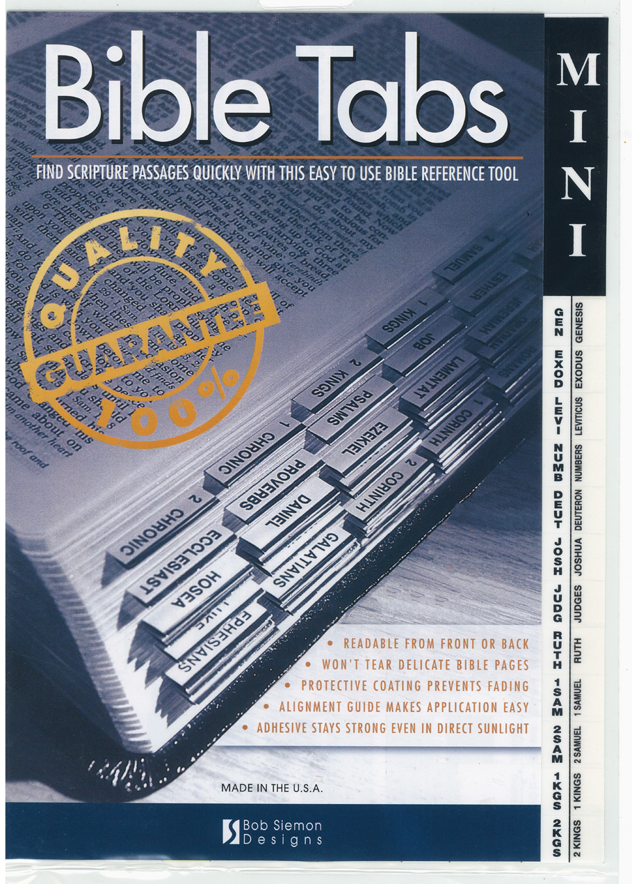 Bible Indexing Mini Tabs 510-374-0168
