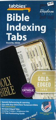 Bible Indexing Tabs Catholic Gold Edged 173-58330