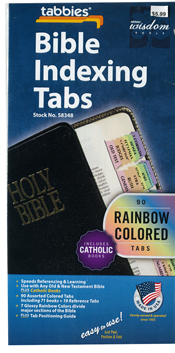 Bible Indexing Tabs Catholic Rainbow Colored 173-58348