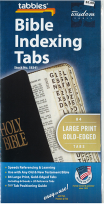 Bible Indexing Tabs Large Print Gold Edged 173-58341