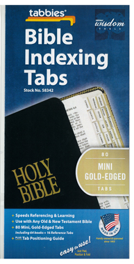 Bible Indexing Tabs Mini Gold Edged 173-58342