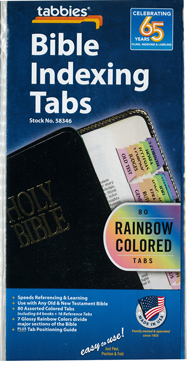 Bible Indexing Tabs Rainbow Colored 173-58346