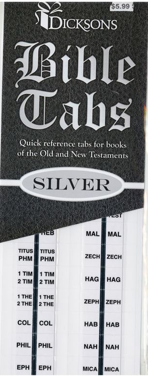 Bible Indexing Tabs SIlver Edged BA-101
