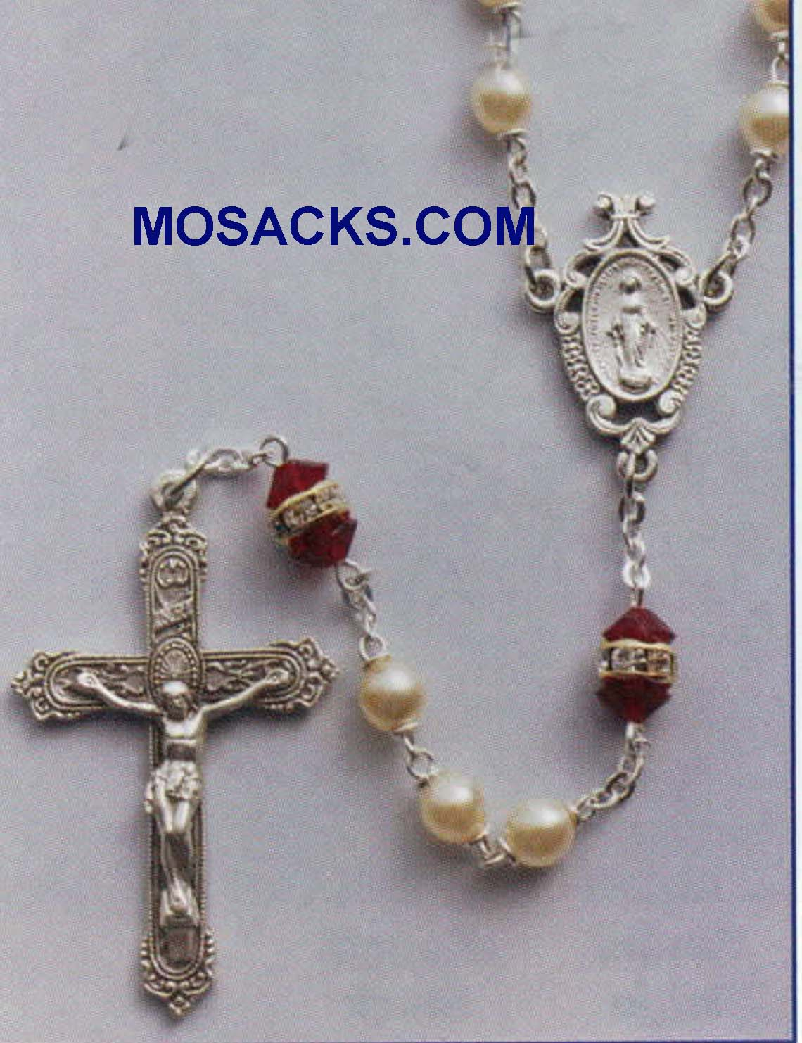 January Birthstone Rosary Garnet-41298GN