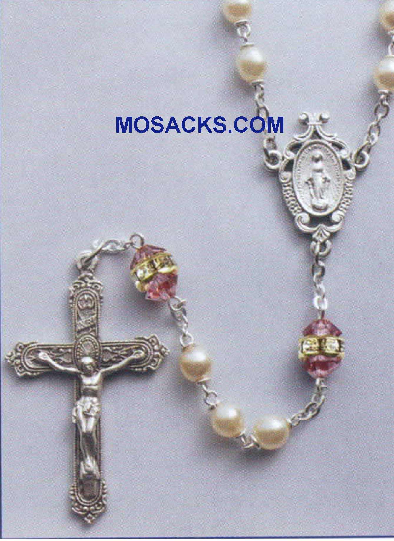 Birthstone Rosary Light Amethyst-41298LA