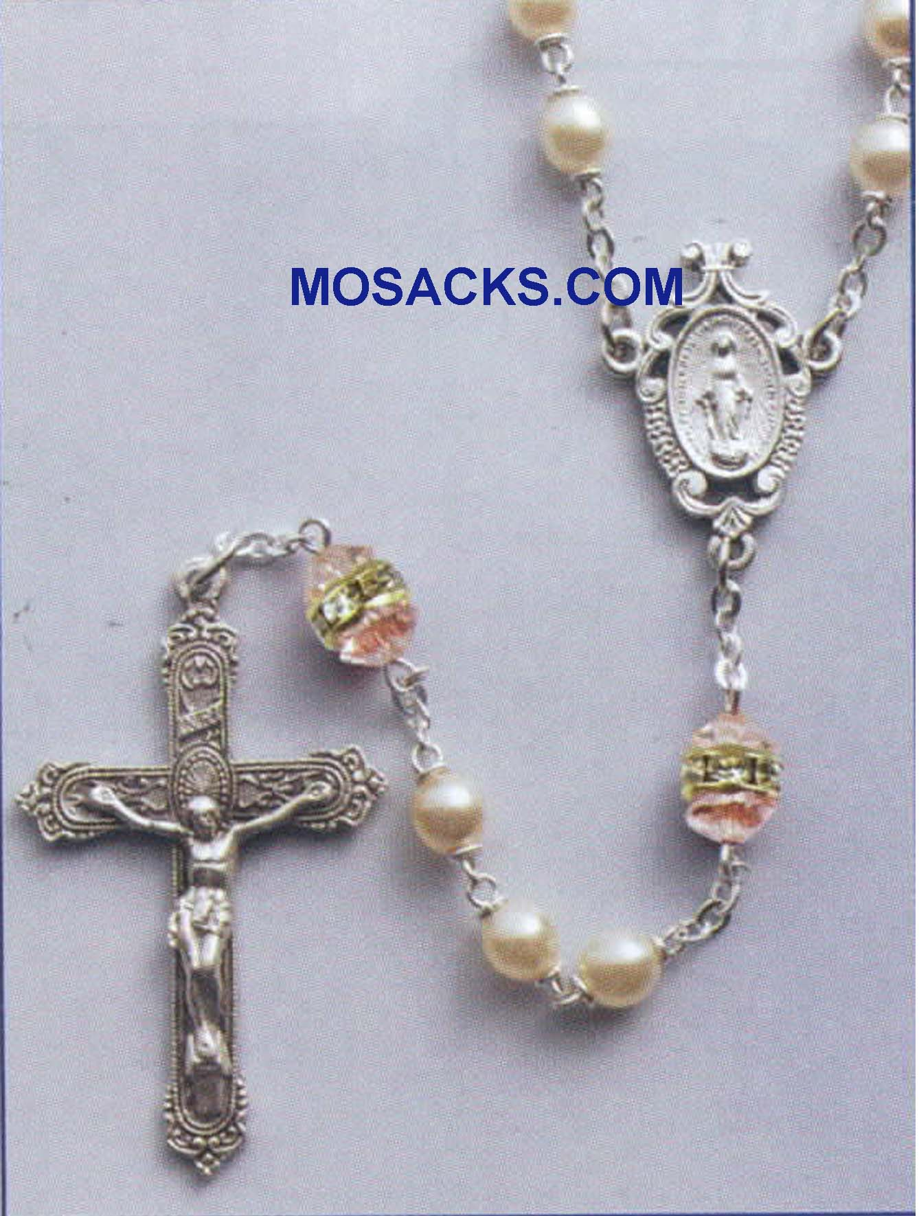 October Birthstone Rosary Rose Zircon-41298RZ