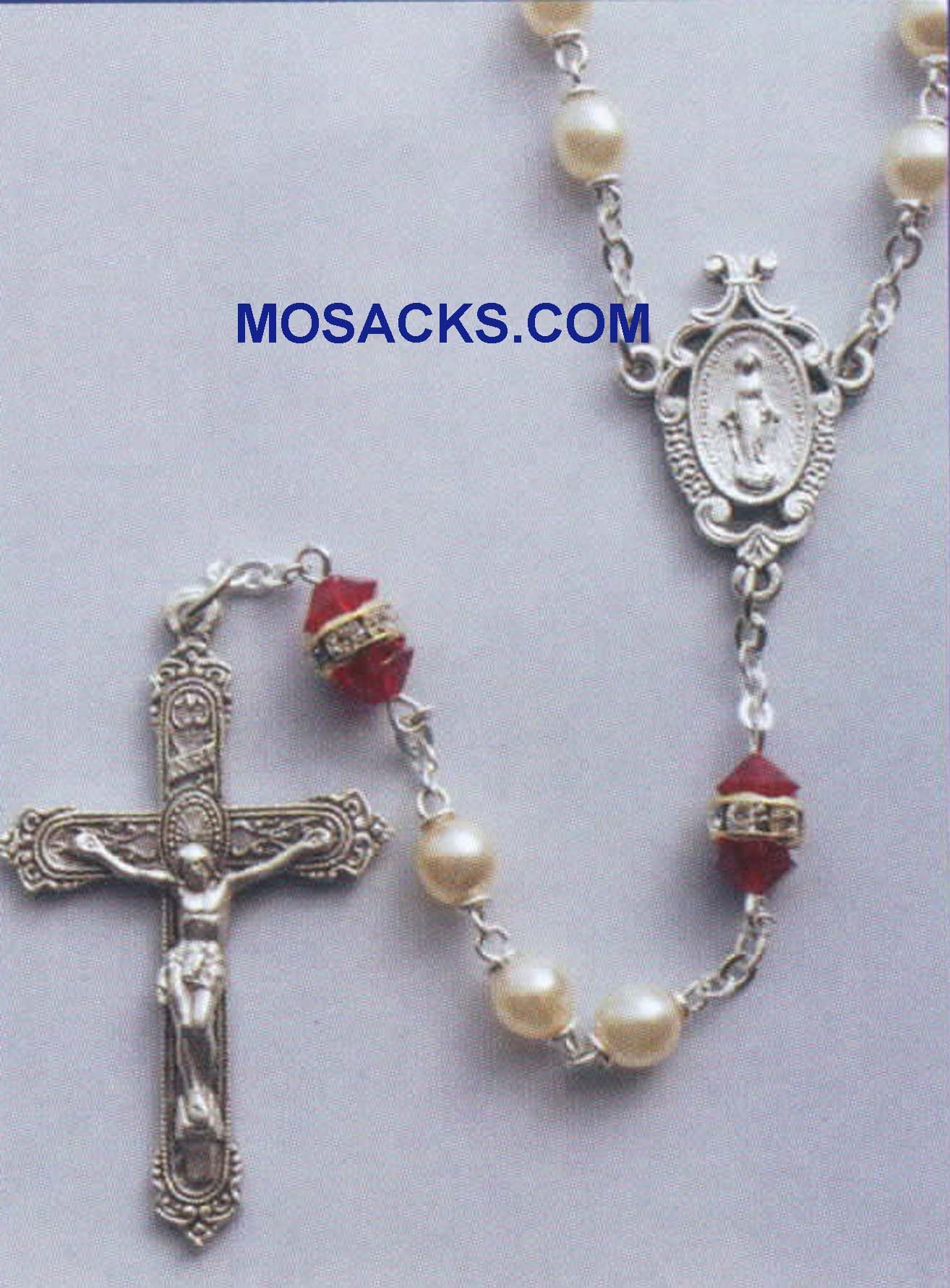 Birthstone Rosary Ruby-41298RB