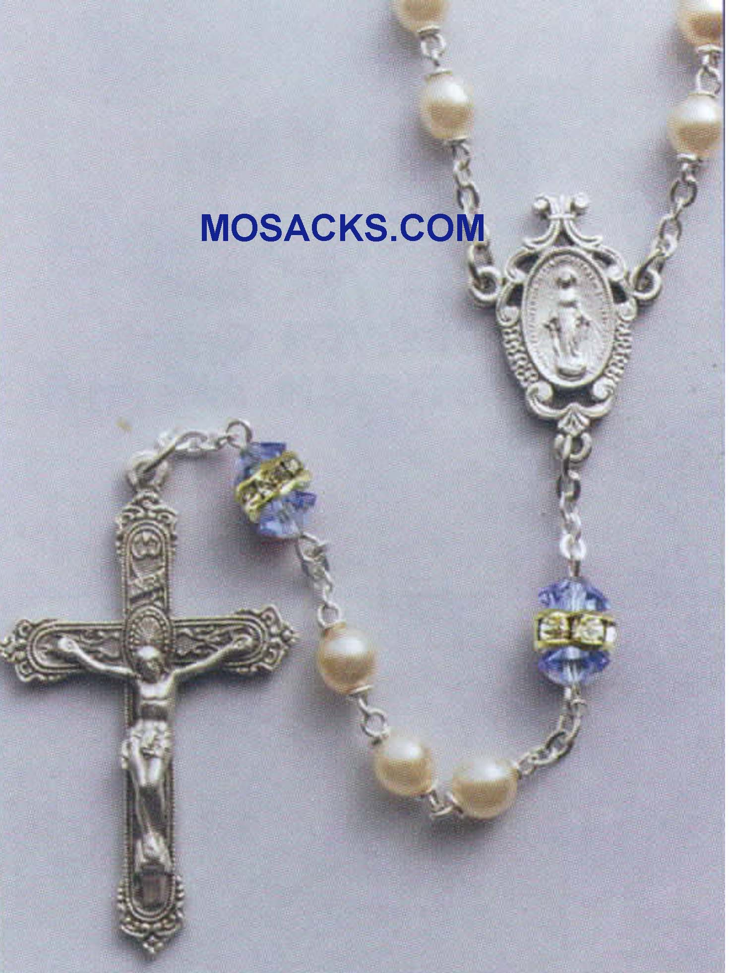Birthstone Rosary Sapphire-41298SP