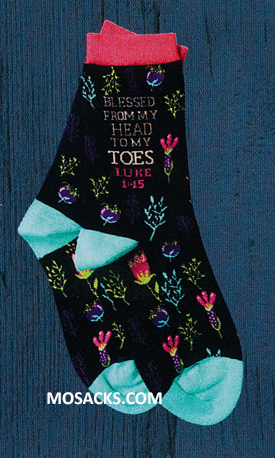 Blessed From My Head to My Toes Luke 1:15 Socks-SOX3512