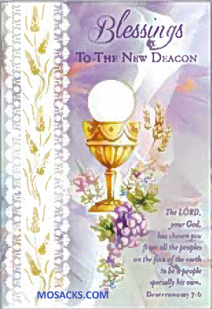 Blessings to the New Deacon Greeting Card DEAC87091