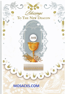 Blessings to the New Deacon Greeting Card DEAC87785
