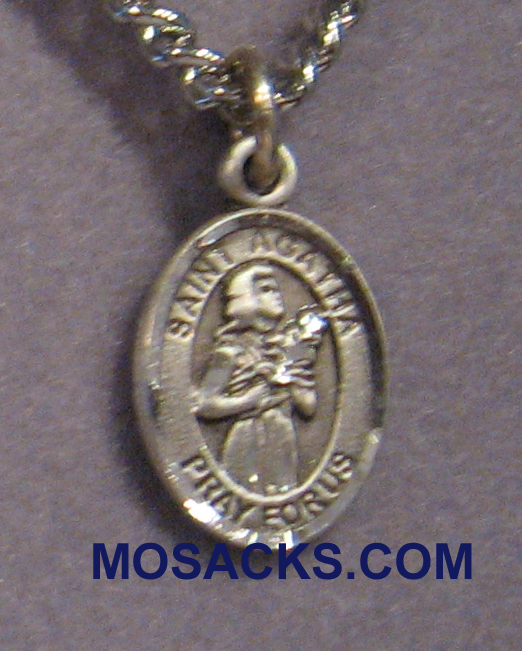 "St. Agatha Sterling Silver Medal 1/2"" 9003SS/24S"