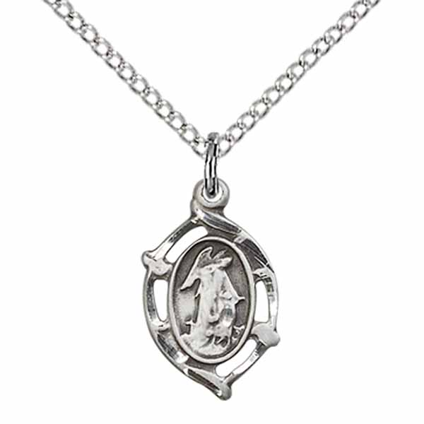 "Guardian Angel Sterling Silver Medal 1/2"" 4154SS"