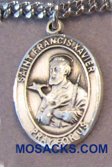 "Sterling Silver St. Francis Xavier 3/4"" 8037SS"