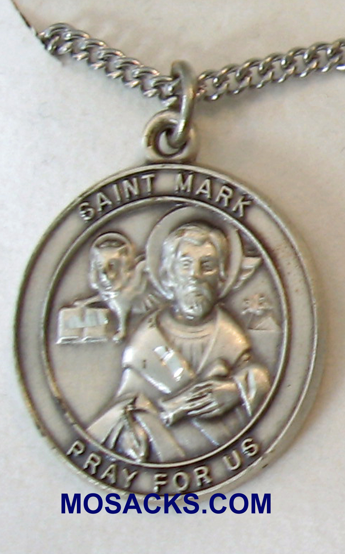 "St. Mark Sterling Silver Medal 1"" 49728SS"