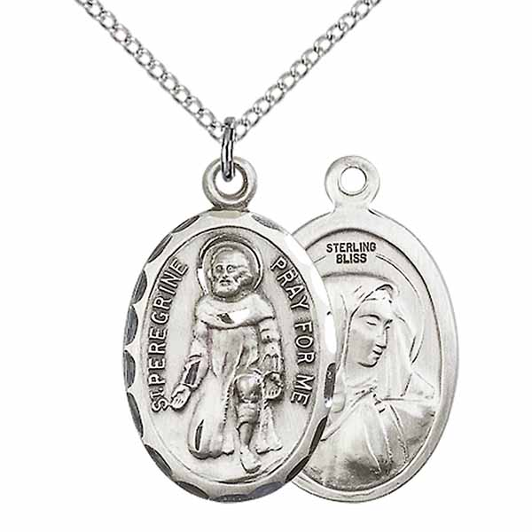 "St. Peregrine Sterling Silver Medal 1"" 0046PSS"