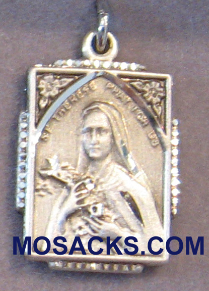 "St. Theresa Sterling Silver Medal 2/4"" 0804TSSY"