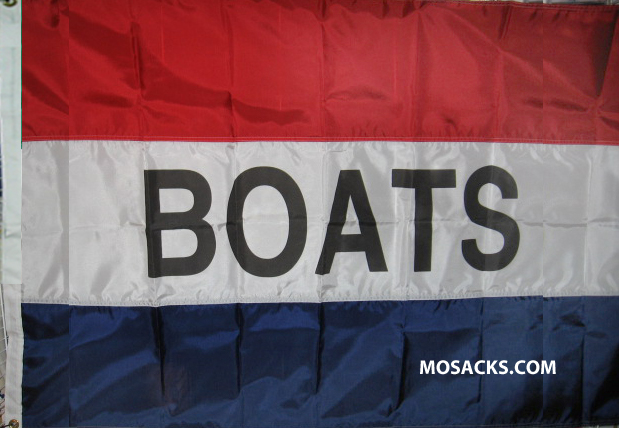 BOATS 3' x 5' Nylon Message Flag, #120006