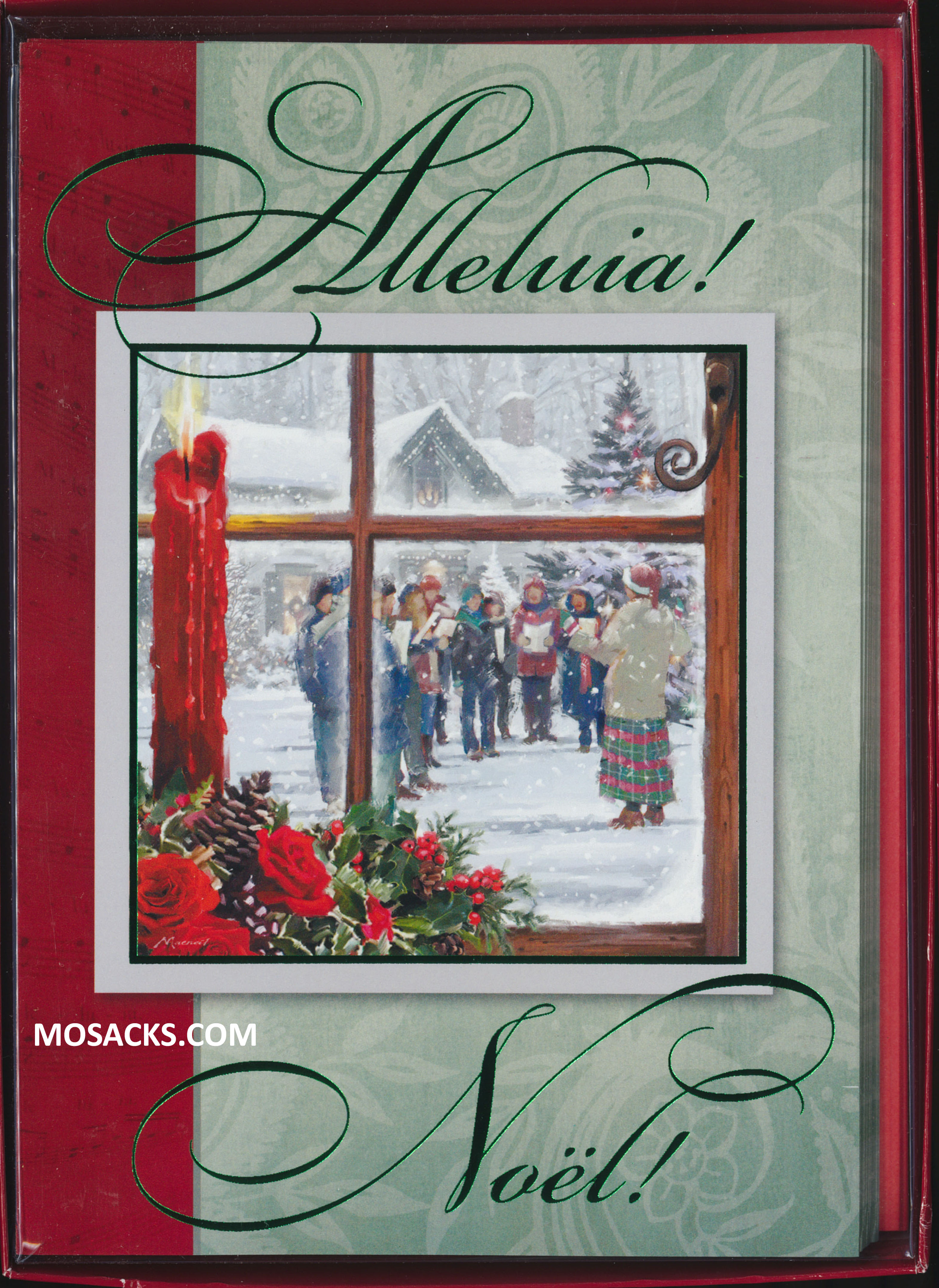 Boxed Christmas Cards Alleluia 10 in box 63-C74609