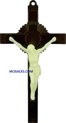 Brown and Luminous 6 Inch Crucifix 185-763LC