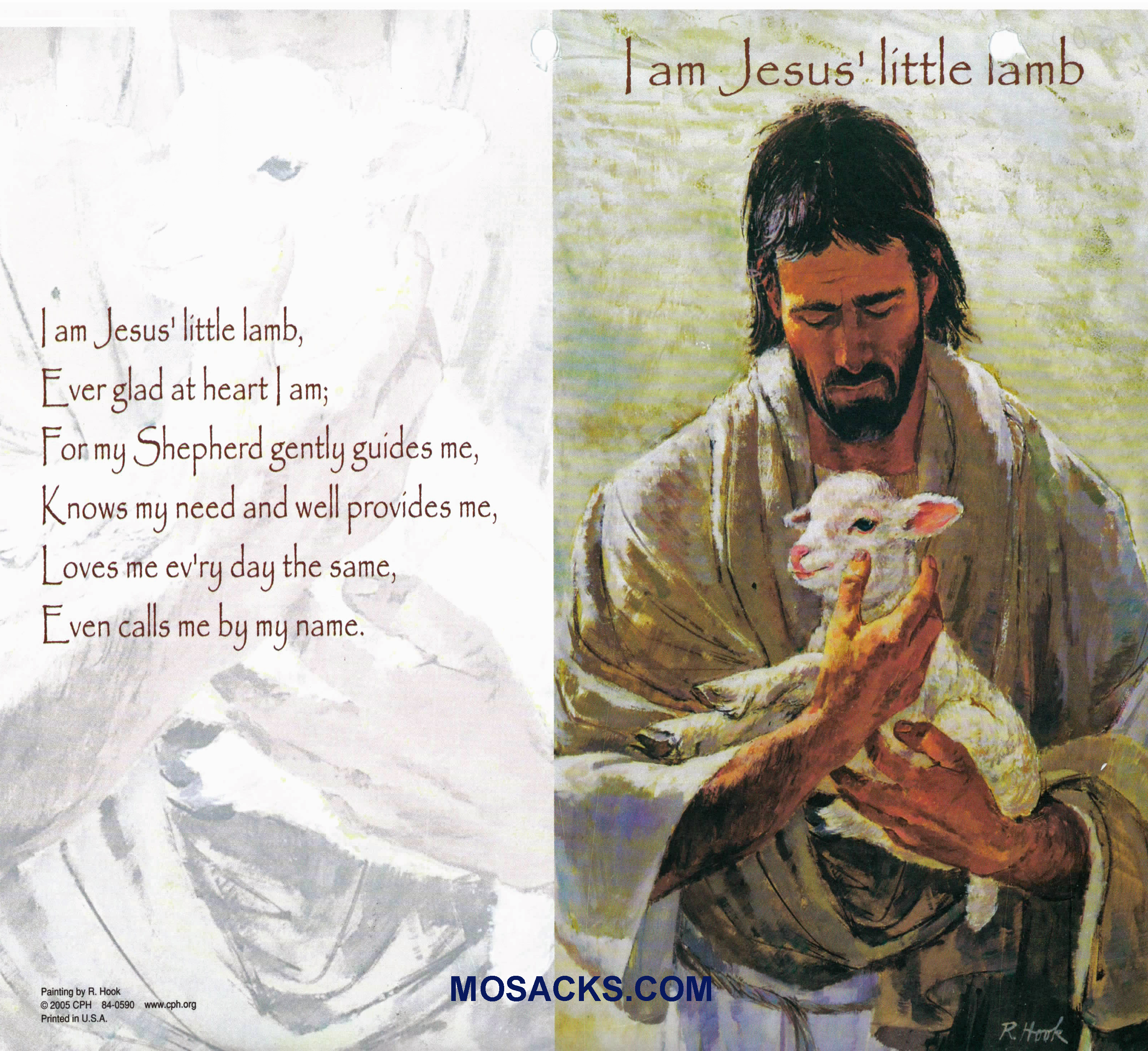 Bulletin Cover I Am Jesus Litte Lamb 100 Pack-840590