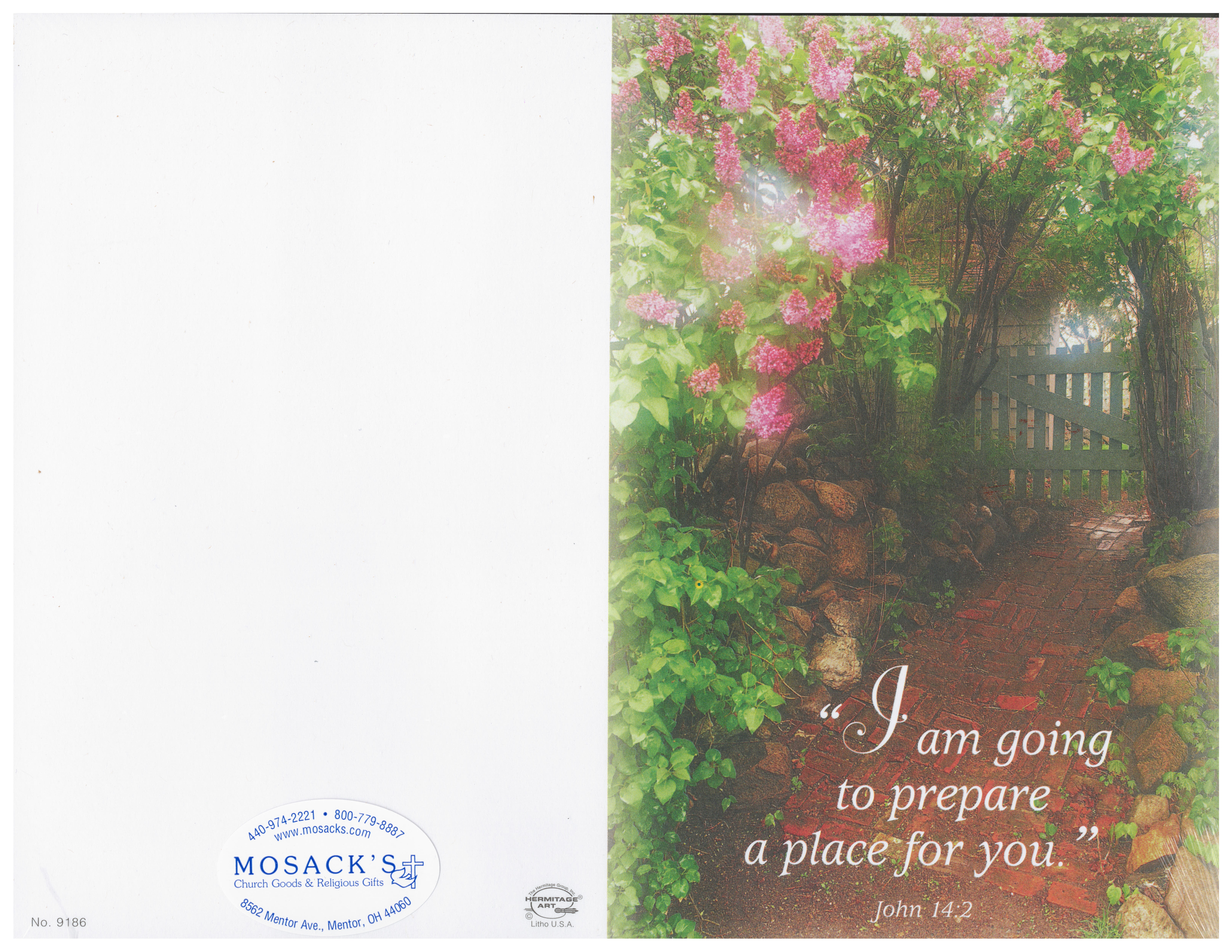 Bulletin Cover I Am Going to Prepare a Place for You 236-9186
