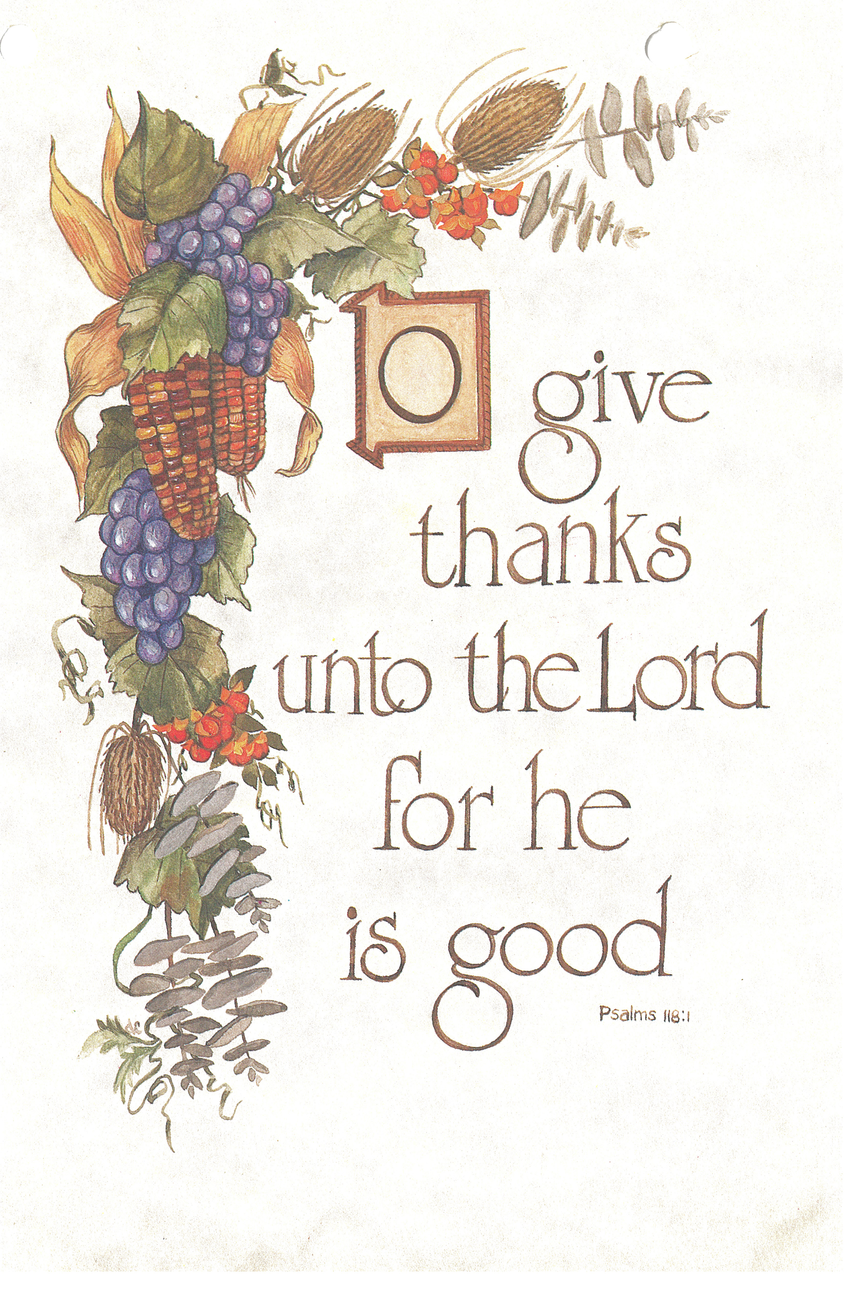 Bulletin Cover Thanksgiving Give Thanks-6525