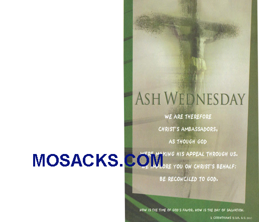 Bulletin Cover Ash Wednesday 100 Pack-U3746