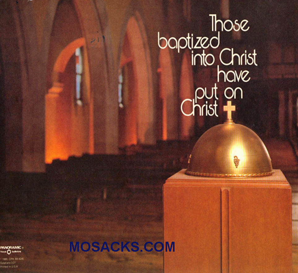 Bulletin Covers Those Baptized Into Christ 100 Pack-84-4240, Baptism Cover