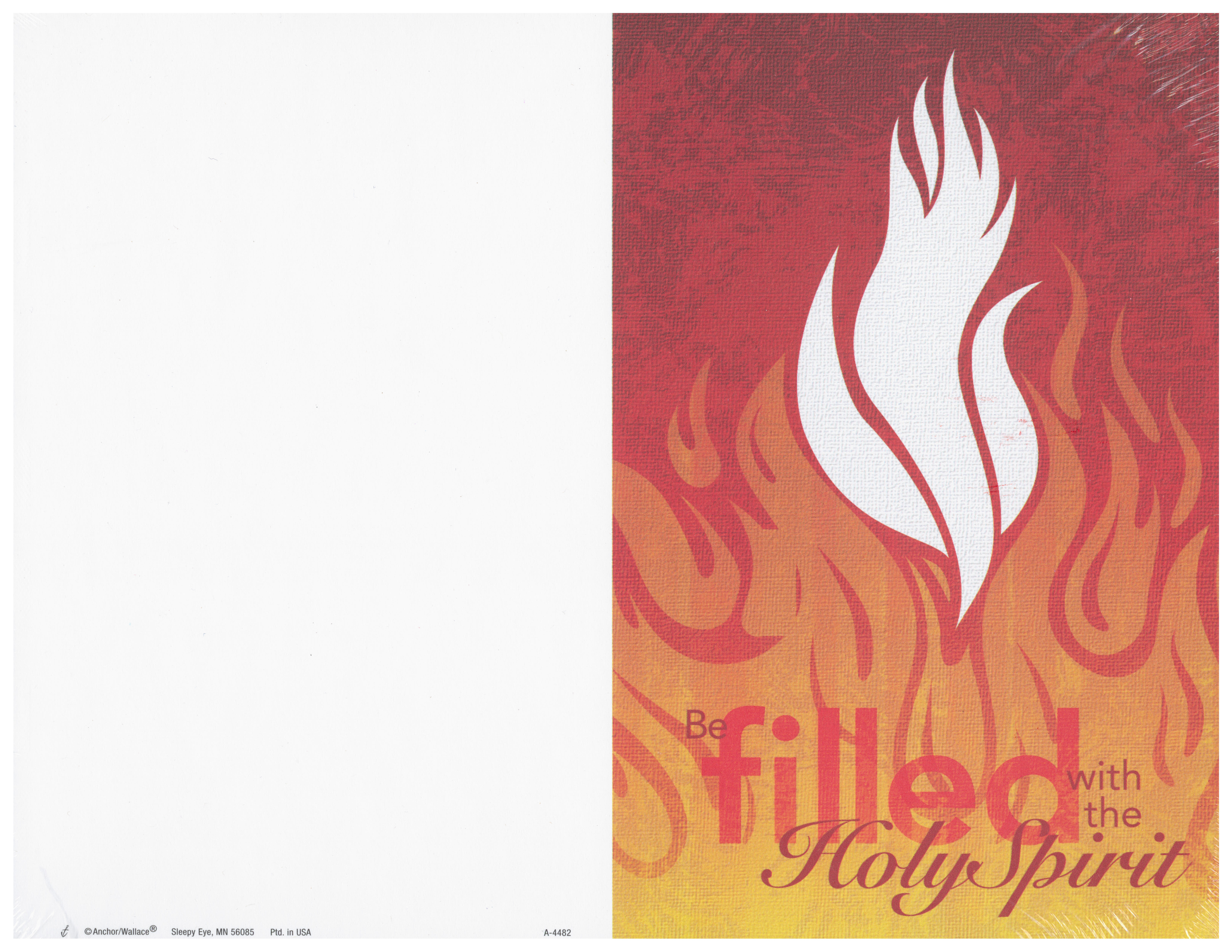 Bulletin Cover Be Filled With the Holy Spirit A4489