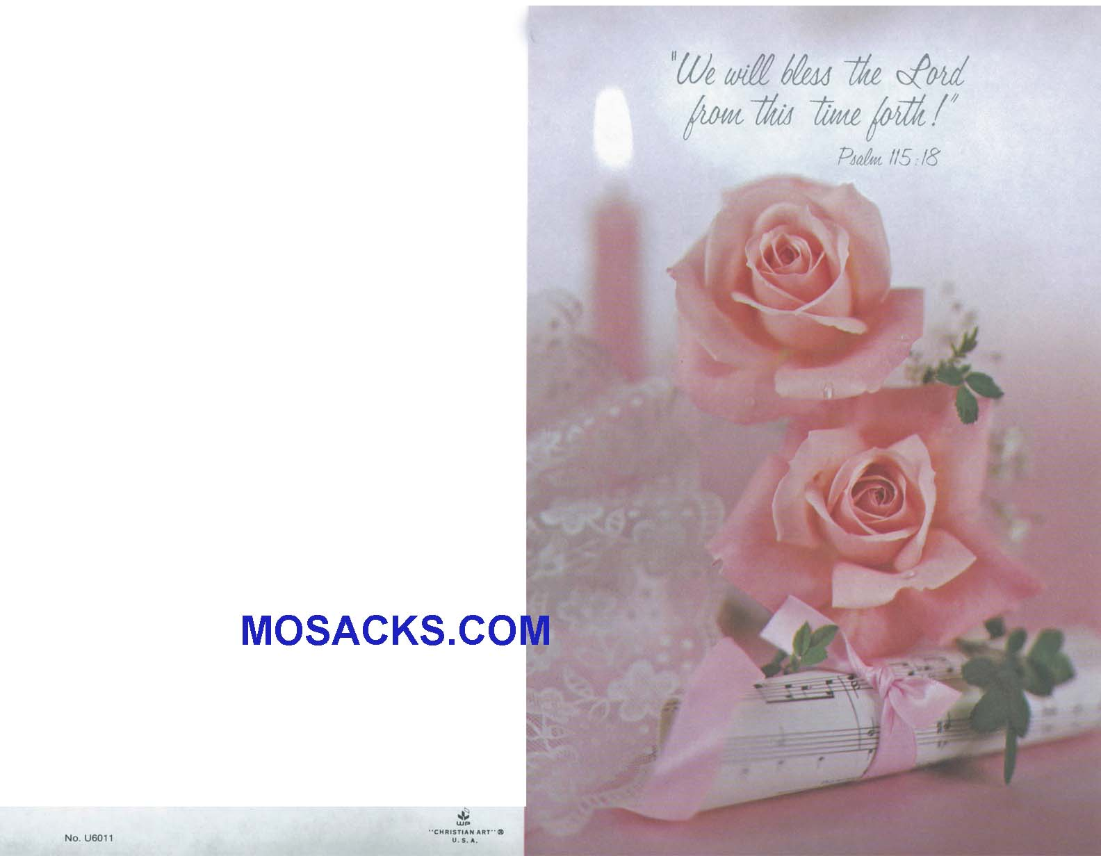 Wedding Bulletin Cover Bless The Lord 100 Pack-U6011, Wedding Cover