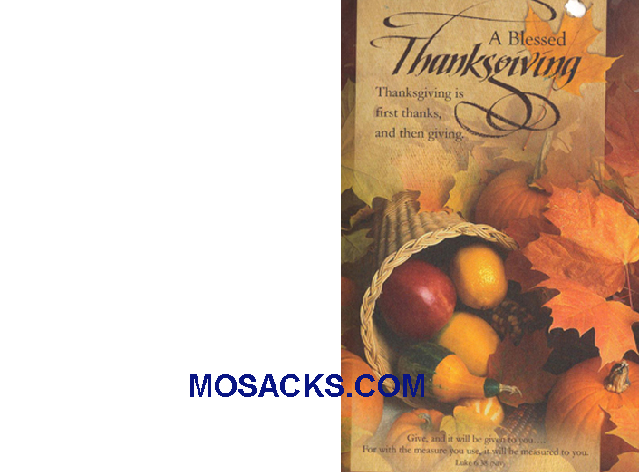 Bulletin Cover Blessed Thanksgiving 100 Pack-U1664