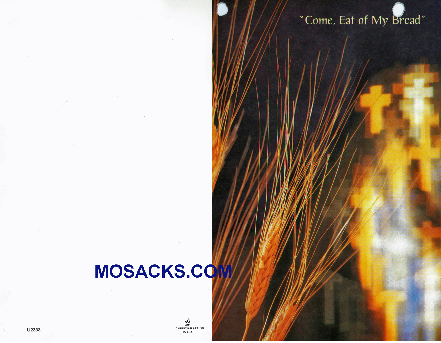 Bulletin Covers Come Eat Of My Bread 100 Pack-U2333, Communion Cover